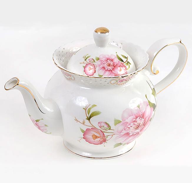 """Чайник заварочный """"Китайская роза"""" 1200мл, фарфор"""