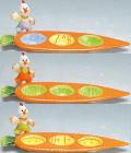 "Блюдо великодне ""Морква"" на 3 яйця 28см"