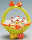 "Корзина для яиц ""Веселая тройка"" декоративная из керамики 24см"
