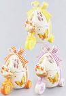 Корзина для яиц Повозка декоративная из керамики 18см