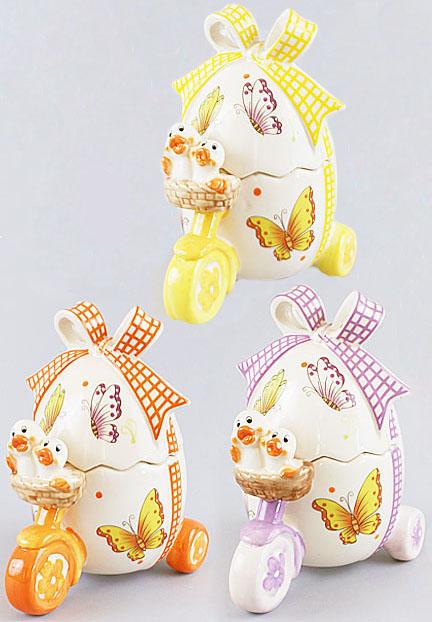 "Корзина для яиц ""Повозка"" декоративная из керамики 18см"
