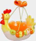 """Декоративний кошик для яєць """"Пасхальний"""" керамічний 19.5х17.5х19см"""