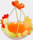 """Декоративний кошик для яєць """"Пасхальний"""" керамічний 16х13.5х15.5см"""