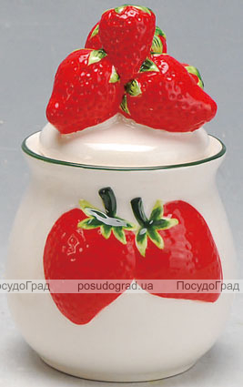 Сахарница Strawberries-03 Ø9х16см