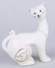 "Статуетка фарфорова декоративна ""Кішка"" 9.5см"