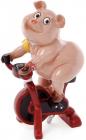 """Статуэтка """"Свинка на велотренажере"""" 11.8х9.3х20.5см"""