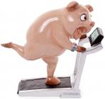 "Статуэтка ""Свинка на беговой дорожке"" 17.5х7.5х17.5см"