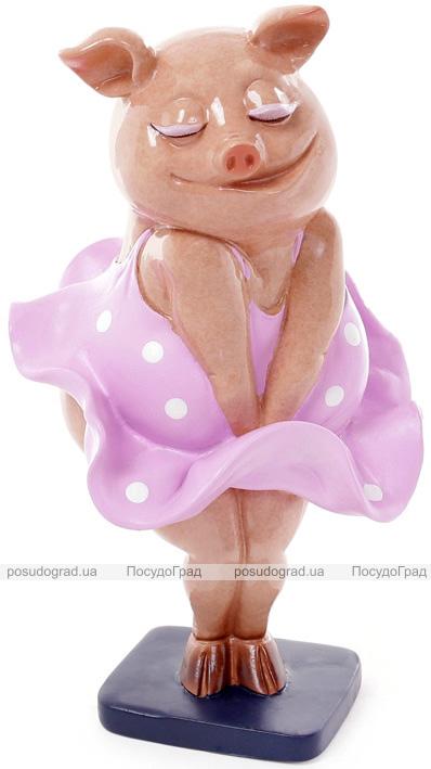 """Декоративна статуетка """"Свинка Монро"""" 11х11х19.5см"""