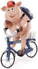 "Декоративная статуэтка ""Свинка на велосипеде"" 15.5х10х19.5см"