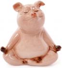 "Декоративна статуетка ""Свинка-йог"" 11х7.5х11см"