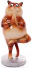 """Декоративная статуэтка """"Рыжий котик-йог"""" 8х6.5х16см"""