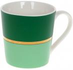 """Кружка фарфорова """"Джайв"""" 390мл, зелений з м'ятним, в подарунковій упаковці"""