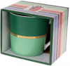 """Кружка фарфоровая """"Джайв"""" 390мл, зеленый с мятным, в подарочной упаковке"""