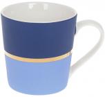 """Кружка фарфорова """"Джайв"""" 390мл, синій з блакитним, в подарунковій упаковці"""
