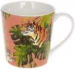 """Кружка порцелянова """"Тигр"""" 390мл, рожевий"""