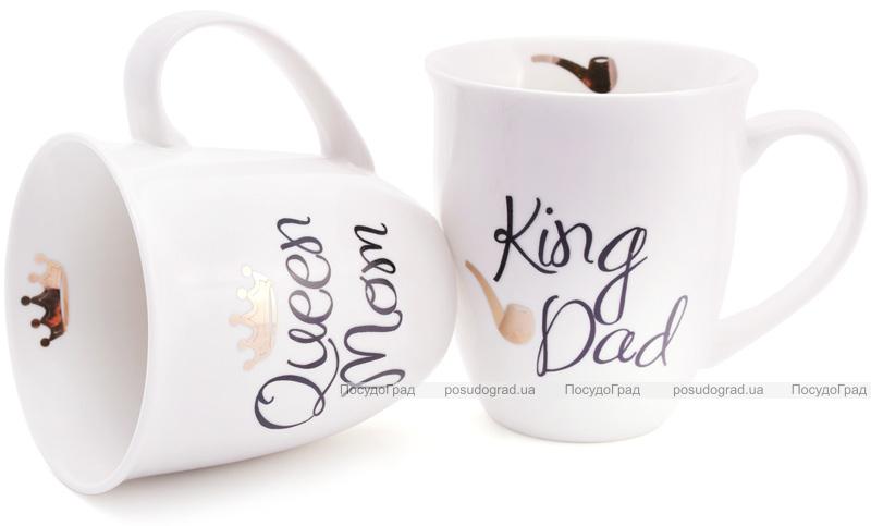 """Кружка порцелянова """"Моя королівська сім'я"""" 500мл ( """"King Dad""""&""""Queen Mom"""")"""