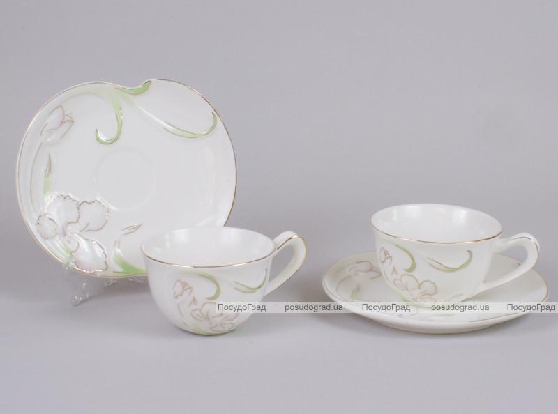 Чайный сервиз Princess Bona-B15 6 чашек 200мл и 6 блюдец