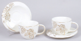 Чайний набір Princess Gold-E12 2 чашки 250мл і 2 блюдця