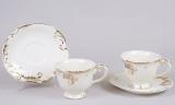 Чайный набор Princess Gold-E20 2 чашки 200мл и 2 блюдца