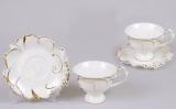 Кавовий набір Princess Gold-E25 2 чашки 150мл і 2 блюдця