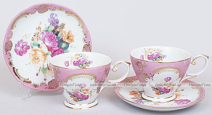 """Чайный набор """"Gold Tea"""" 200мл 6 чашек и 6 блюдец"""
