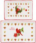 Набор 3 фарфоровых блюда Merry Christmas для сервировки в подарочной коробке