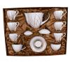Чайный сервиз White Princess Gold Line 200мл 15 предметов на 6 персон