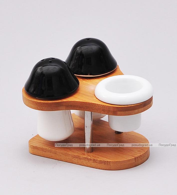 Набор для специй Ceram-Bamboo соль/перец/зубочистки на подставке