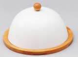 Набор для масла и сыра Ceram-Bamboo Ø17см с крышкой