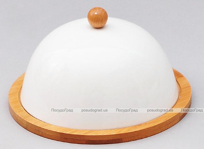 Набір для масла і сиру Ceram-Bamboo Ø17см з кришкою