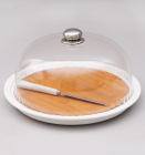 Блюдо Ceram-Bamboo для сыра, специй и приправ Ø30см с колпаком