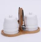 Набор для сахара, меда или специй Ceram-Bamboo с металлическими ложками
