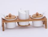 Набір спецовників Ceram-Bamboo 26.5x9.5x11см на дерев'яній підставці