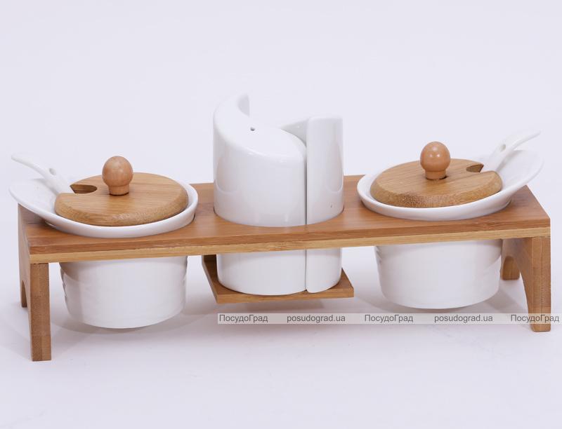 Набор спецовников Ceram-Bamboo 26.5x9.5x11см на деревянной подставке
