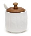 Сахарница Ceram Bamboo 250мл с ложкой и деревянной крышкой