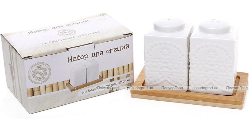 """Набор для специй Ceram-Bamboo """"Кубик"""" соль/перец на бамбуковой подставке"""
