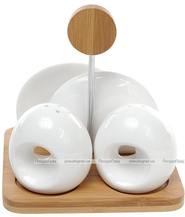 Набор спецовников Ceram-Bamboo-209 соль/перец с подставкой для салфеток