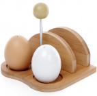 """Набор спецовников Ceram-Bamboo """"Яйца"""" соль/перец с салфетницей на бамбуковой подставке"""