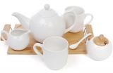 Чайный набор Ceram-Bamboo чайник 1275мл, 2 кружки 350мл, молочник и сахарница