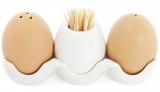 """Набор спецовников Ceram-Bamboo """"Яйца"""" соль/перец с емкостью для зубочисток"""