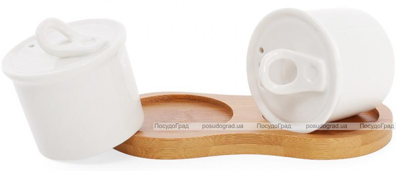 Набор спецовников Ceram-Bamboo соль/перец на деревянной подставке 14х7х6.5см