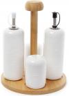 Набор для специй Ceram-Bamboo масло и уксус 230мл, солонка и перечница