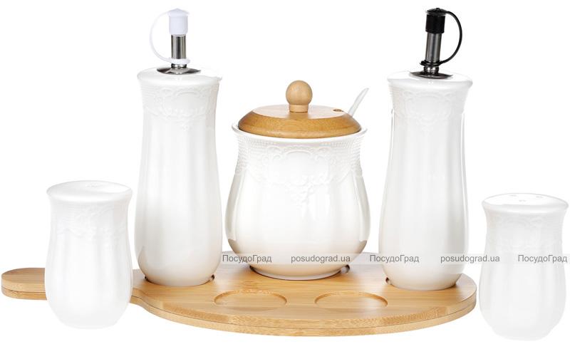 Набор спецовников Ceram-Bamboo масло/уксус, соль/перец и сахарница