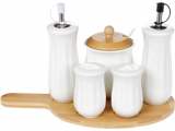 Набір спецовників Ceram-Bamboo масло/уксус, сіль/перець і цукорниця