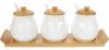 Набір банок для спецій Nouvelle Home Тиснення 3 банки по 300мл на підставці