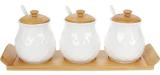 Набор банок для специй Nouvelle Home Тиснение 3 банки по 300мл на подставке