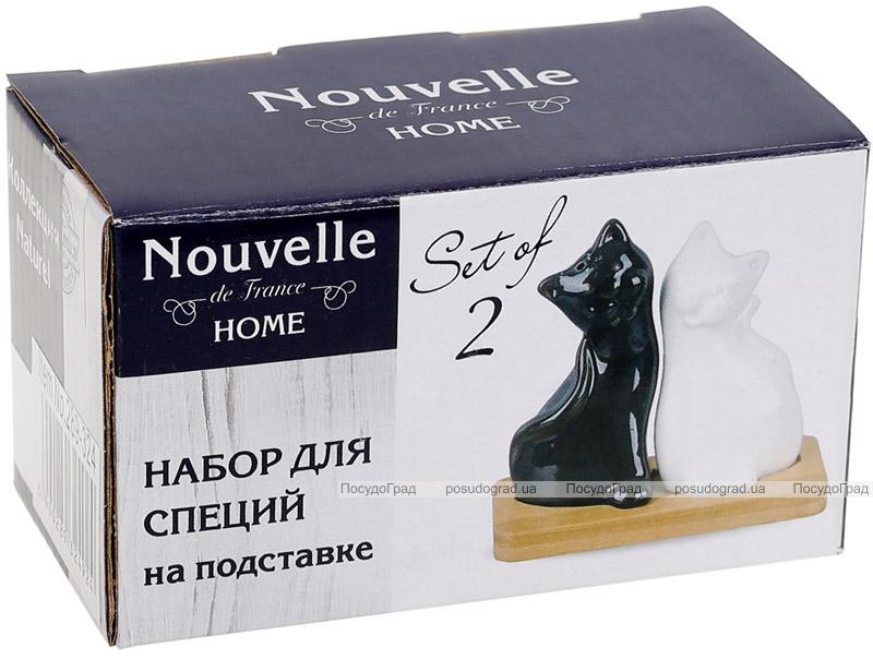 """Набір для спецій Nouvelle Home Котики """"Інь-янь"""" 10.5х5.5х10.2см"""