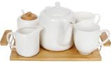 Чайний набір Nouvelle Home Blanca 5 предметів на підносі