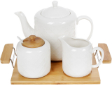Набор для чая Nouvelle Home Blanca чайник, молочник и сахарница на подносе