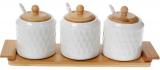 Набір банок для спецій Nouvelle Home Blob 3 банки по 300мл на підставці